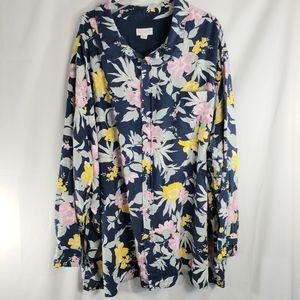 KS Island Floral Print Shirt Size 6X
